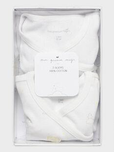 Lot de 2 bodies lingerie en côte écru bébé mixte TYVOLE / 20E0NMF1BOD000