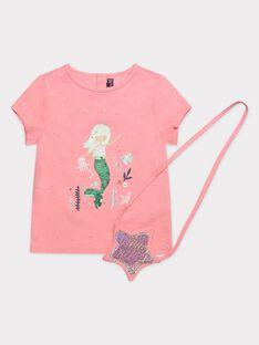 Tee Shirt Manches Courtes Rose TIKETTE / 20E2PFD2TMC415