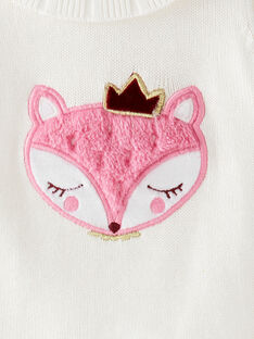 Pull en tricot écru avec motif biche VAEMY / 20H1BF61PUL001