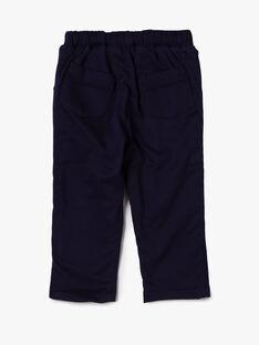 Pantalon marine en satin VARIMA / 20H1BFY1PAN070