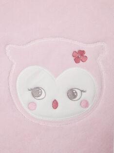 Couverture rose pâle naissance fille BOA / 21H0AF41D4P301