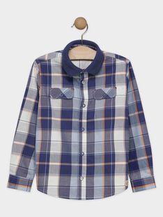 Chemise bleu à carreaux garçon SACARAGE / 19H3PG61CHMC203