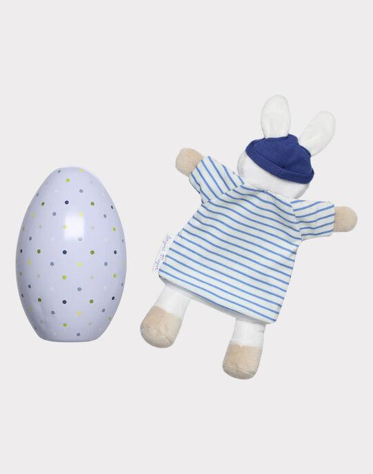 Oeuf de Pâques et doudou bébé garçon  THEO / 20E4BGU1JOU001
