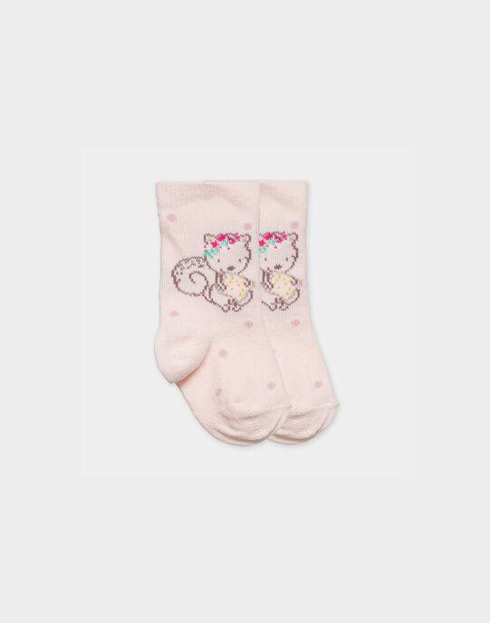 Chaussettes rose PARFAITE / 18H0AF11SOQ301