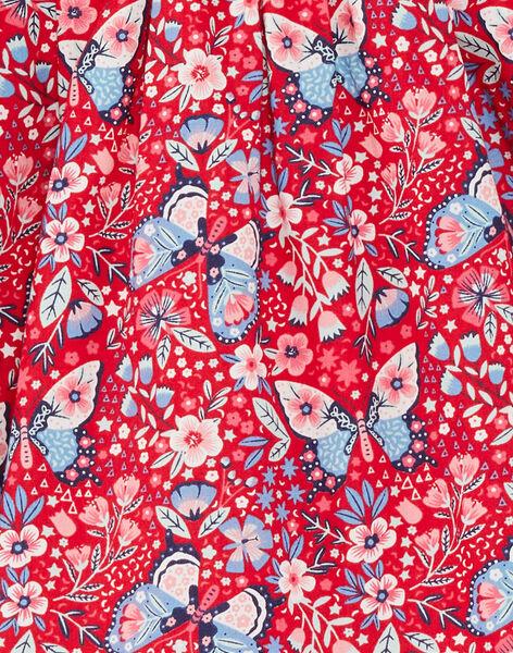 Robe chemisier rouge imprimé papillon ZOROBETTE / 21E2PFB2ROB050