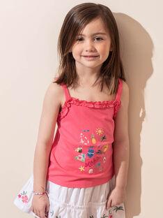 Débardeur rose motifs fantaisie enfant fille ZYDEBETTE / 21E2PFU2DEBD311