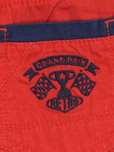 Bermuda rouge RODRAGE / 19E3PGH1BERF506