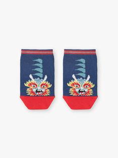 Chaussettes basses rouges et bleues animation dragon ZASOCAGE / 21E4PGI1SOB705