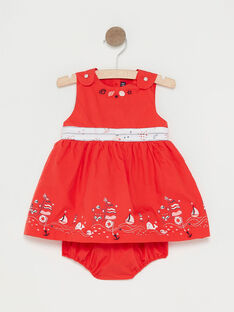 Robe rouge bébé fille  TATAMARA / 20E1BFW1CHSF503