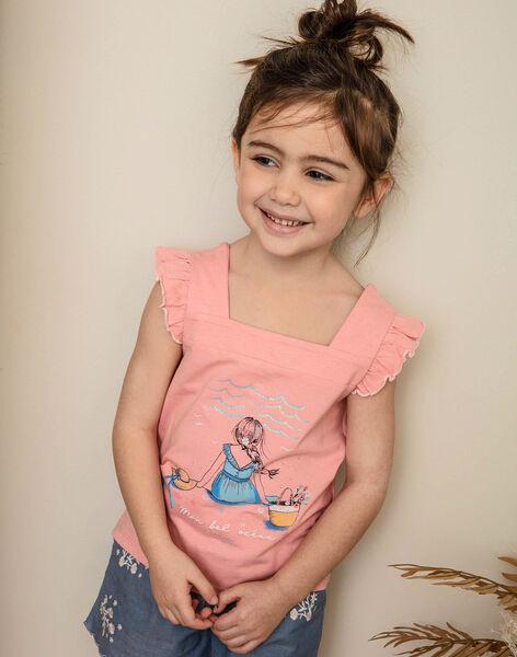 Débardeur rose imprimé fantaisie enfant fille ZUTOLETTE / 21E2PFT1TMCD305