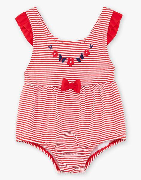 Maillot de bain 1 pièce en seersucker à rayures bébé fille ZIFELIA / 21E4BFX1MAI632