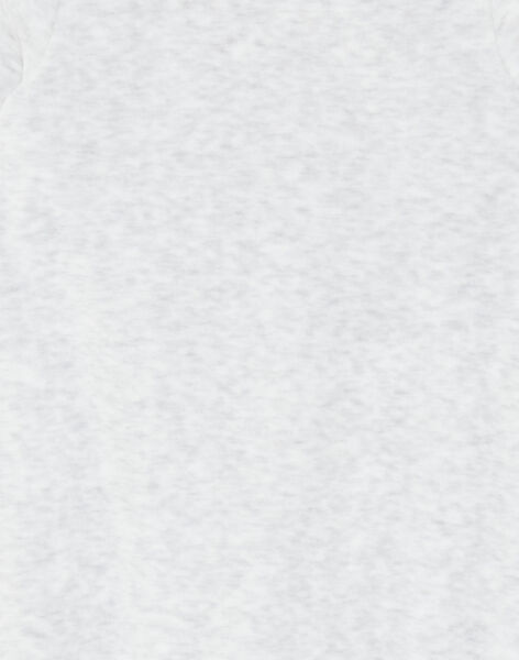 Grenouillère velours beige chiné  ZEBOBBIE / 21E5BG17GREJ920