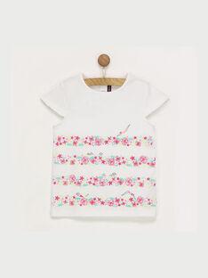 Tee shirt manches courtes écru RUILOZETTE / 19E2PFP1TMC001