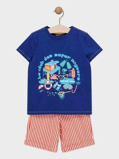 Ensemble garçon deux pièces : t-shirt manches courtes et short  TIPALAGE 4 / 20E3PGV3ENSC244