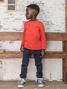 Jean denim foncé enfant garçon BUWOLAGE1 / 21H3PGB2JEAK005