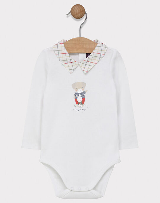 Body manches longues blanc bébé garçon  SADERRICK / 19H1BG31BOD000