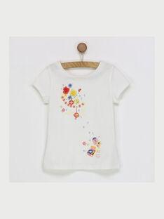 Tee shirt manches courtes blanc RYNOUETTE / 19E2PFH2TMC001
