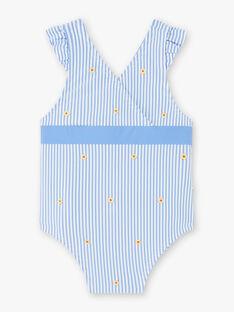 Maillot de bain 1 pièce à rayures bleues et blanches bébé fille ZISOPHIA / 21E4BFR3MAI208