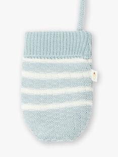 Moufles en tricot bleu grisées VAHUY / 20H4BGI2GAN205