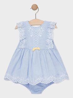 Robe rayée bleu et blanche bébé fille   TAORIANE / 20E1BFO1CHSC204