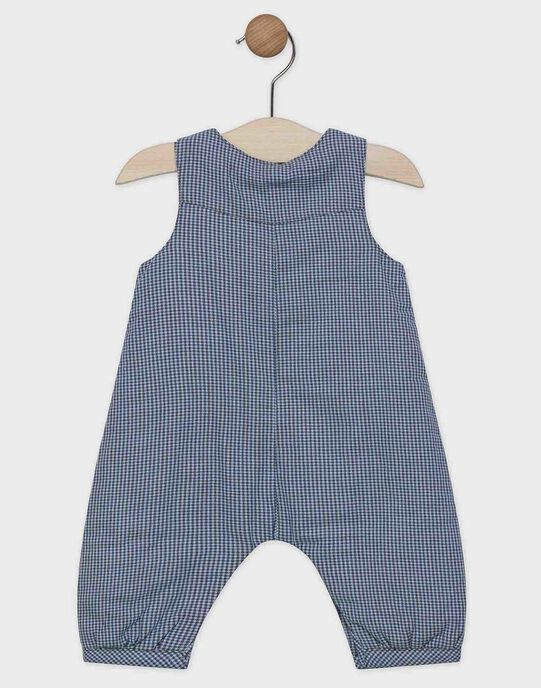 Salopette à carreaux en twill bébé garçon SYANDREW / 19H0CG11SAL702