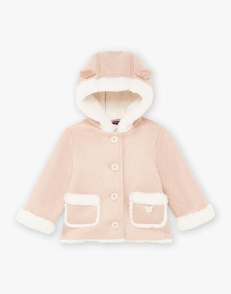 Manteau beige détails en fausse fourrure bébé fille BININON / 21H1BFC1MAN080