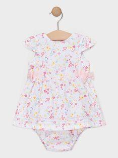 Robe fleurie bébé fille  TALAURIE / 20E1BFJ2ROB000