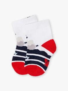 Chaussettes à imprimé marin bébé garçon ZAORAN / 21E4BGT1SOBC214