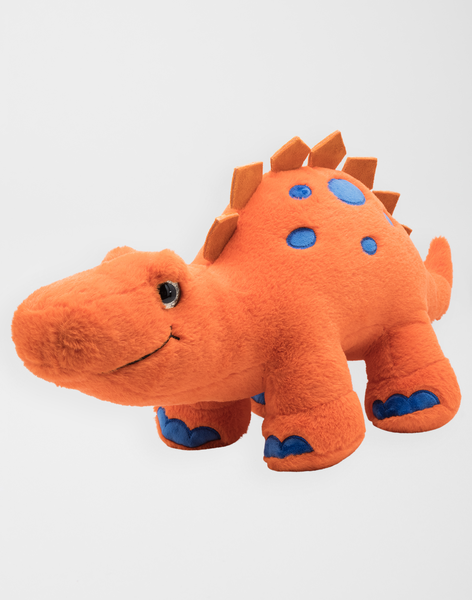 Dinosaure stegosaurus orange et bleu 60 cm  dino orange / 20J7GG31PE3400