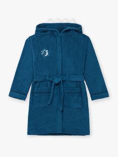 Peignoir à capuche bleu canard à motif requin enfant garçon BEPEIGNAGE / 21H5PG61PEI714