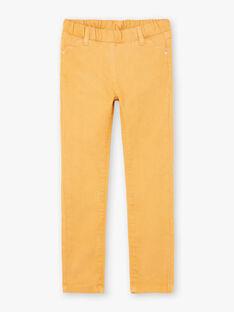 Pantalon uni jaune enfant fille BROSAETTE3 / 21H2PFB6PANB106