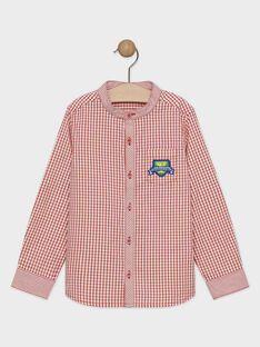 Chemise à carreaux rouge et blanc garçon  TEZOAGE / 20E3PGH2CHMF508
