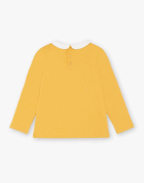T-shirt jaune manches longues et col claudine enfant fille ZLIMETTE 4 / 21E2PFK7TMLB106