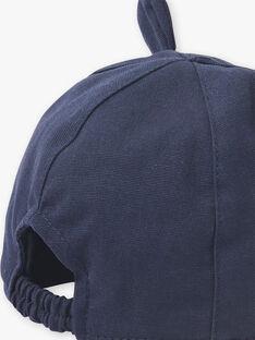 Casquette bleu nuit en coton bébé garçon avec découpes oreilles bébé garçon ZAOBE / 21E4BGT1CHAC214