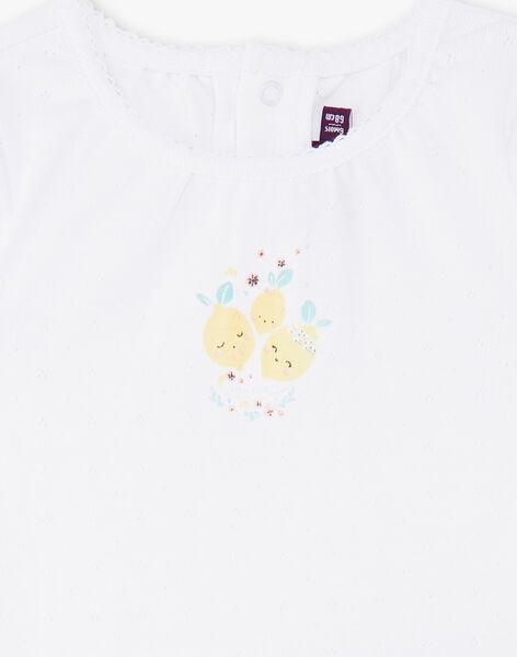 Body blanc motifs citrons bébé fille ZANOLWEN / 21E1BFO1BOD000