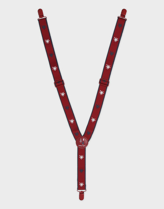 Bretelles rouge jacquard étoiles garçon SIBRETAGE / 19H4PGP1BRE719