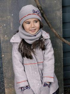 Manteau à capuche amovible gris VEMATETTE / 20H2PFI1MANJ920