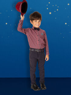 Chemise rouge et gris à petits carreaux garçon SINEAGE / 19H3PGP1CHM941