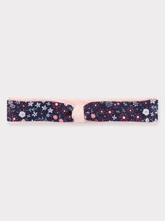 Bandeau jersey fleuri rose bébé fille TADORA / 20E4BFC1BAN301