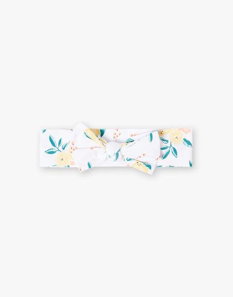 Bandeau blanc imprimés citrons et fleurs bébé fille ZANAIA / 21E4BFO1BAN000