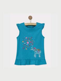 Tee shirt manches courtes turquoise ROUPAETTE / 19E2PFM1TMC202