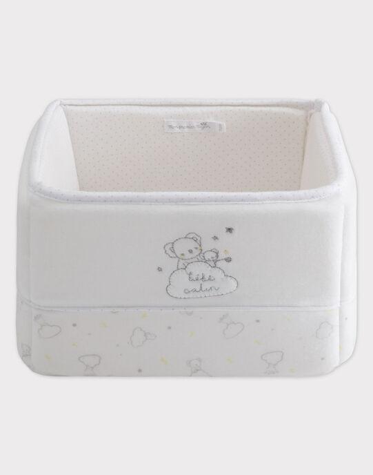 Grand panier de rangement blanc bébé mixte TYPANIER / 20EZNAF1PNR000