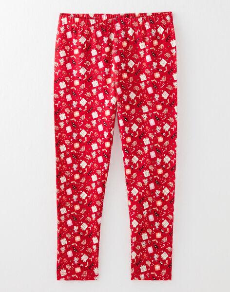 Ensemble chemise de nuit et pantalon écru et rouge petit enfant fille  VOJUETTE / 20H5PFK1CHN001