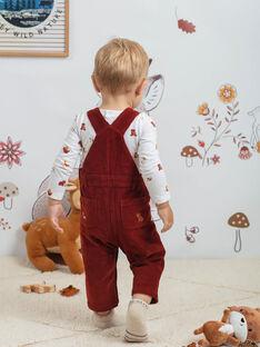 Salopette motif ourson bébé garçon BALUCIEN / 21H1BGJ1SALI801