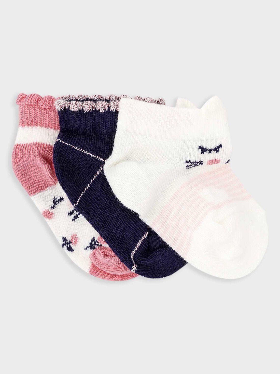 Hautes Bébé Fille Rose Nœud Blanc Chaussettes Occasion Spéciale 3-6-12-18m