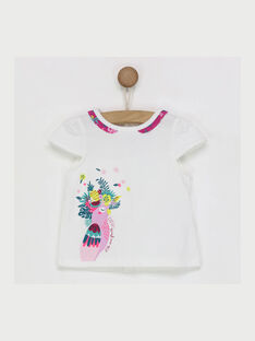 Tee shirt manches courtes blanc RAVALATINE / 19E1BFQ1TMC001