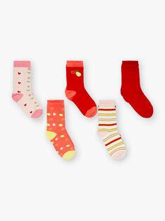 Lot de 5 paires chaussettes assortis à  motifs citrons et cœur  ZOUTAETTE / 21E4PFK1LC5F507