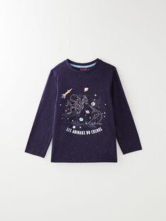 Tee-shirt manche longue avec animation phosphorescente VODILAGE / 20H3PGY1TML713