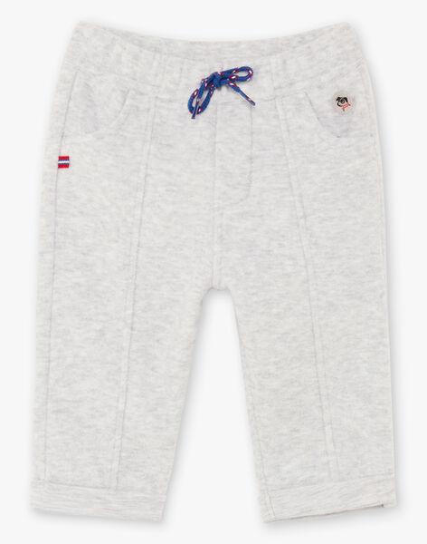 Pantalon effet laine gris chiné bébé garçon BABOY / 21H1BG12PAN943