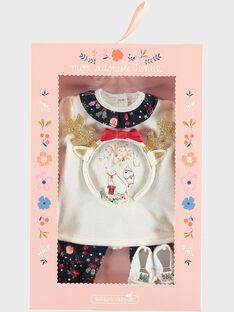 Tenue poupée pyjama de noël écru SEALITENUTV / 19HZENS6TEN001